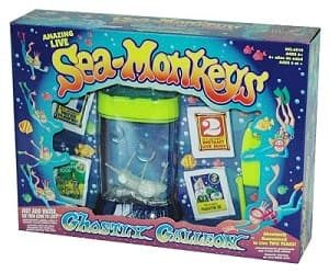 Sea monkeys make good pets for kids.